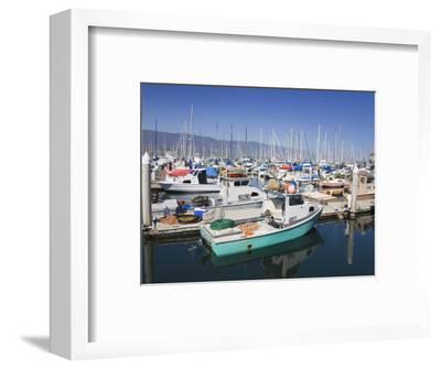 Fishing Boats, Santa Barbara Harbor, California, United States of America, North America