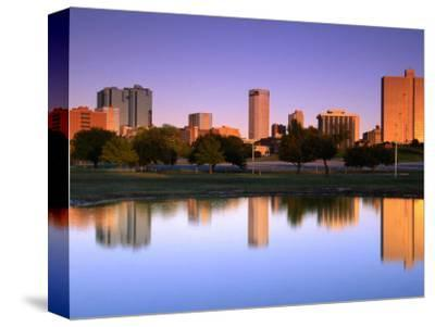 Fort Worth Reflected in the Trinity River Park, Fort Worth, Texas