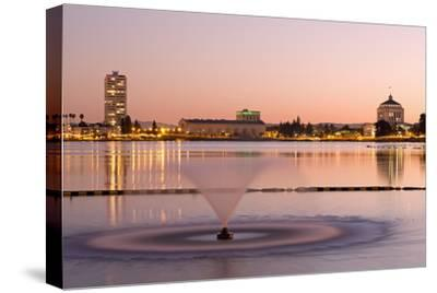 Fountain in Lake Merritt, Oakland, California, United States of America, North America
