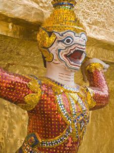 Golden Chedis at Royal Grand Palace, Rattanakosin District, Bangkok, Thailand, Southeast Asia by Richard Cummins
