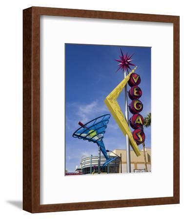 Historic Oscar's Martini Neon Sign on Fremont Street, Las Vegas, Nevada