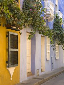 House in Old Walled City District, Cartagena City, Bolivar State, Colombia, South America by Richard Cummins
