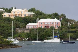 Houses in Pitts Bay, Hamilton City, Pembroke Parish, Bermuda, Central America by Richard Cummins