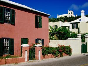 Houses on York Street, St. George's Island, St. George's Parish, Bermuda by Richard Cummins