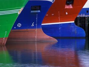 Hulls of Trawlers by Richard Cummins