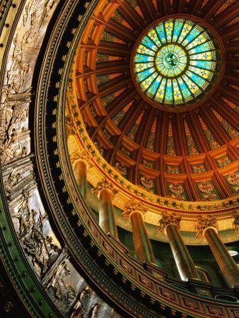 Interior of Rotunda of State Capitol Building, Springfield, United States of America by Richard Cummins