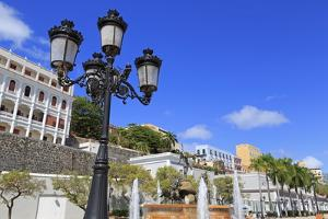 La Princesa Fountain in Old San Juan, Puerto Rico, Caribbean by Richard Cummins