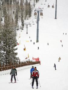 Lionshead Village Ski Run, Vail Ski Resort, Rocky Mountains, Colorado, USA by Richard Cummins