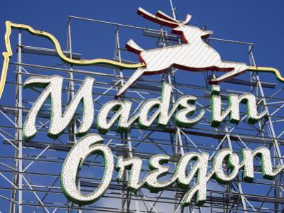 Made in Oregon Sign in Old Town District of Portland, Oregon, United States of America by Richard Cummins
