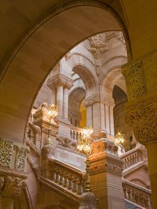 Million Dollar Staircase, State Capitol Building, Albany, New York State, USA by Richard Cummins