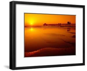Oceanside Pier at Sunset, North County, San Diego, United States of America by Richard Cummins
