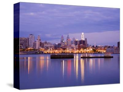 Philadelphia Skyline and Delaware River, Philadelphia, Pennsylvania