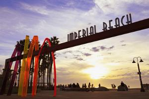 Pier entrance, Imperial Beach, San Diego, California, United States of America, North America by Richard Cummins