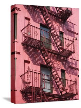Pink Apartment Building in Soho District, Downtown Manhattan, New York City, New York, USA