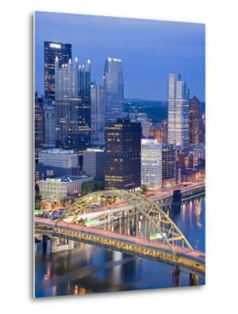 Pittsburgh Skyline and Fort Pitt Bridge over the Monongahela River, Pittsburgh, Pennsylvania, Unite