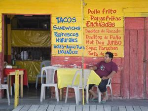 Restaurant in Puerto Corinto, Department of Chinandega, Nicaragua, Central America by Richard Cummins