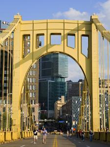 Roberto Clemente Bridge (6th Street Bridge) over the Allegheny River, Pittsburgh, Pennsylvania, Uni by Richard Cummins