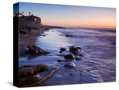 Rocks and Beach at Sunset, La Jolla, San Diego County, California, USA