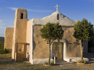 San Francisco De Asis Church Dating from 1835, Golden, New Mexico, United States of America, North  by Richard Cummins