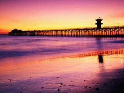 Seal Beach Pier at Sunset, California
