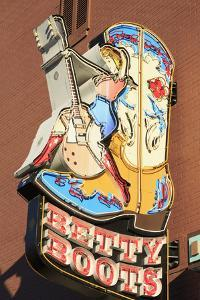 Sign on Broadway Street, Nashville, Tennessee, United States of America, North America by Richard Cummins