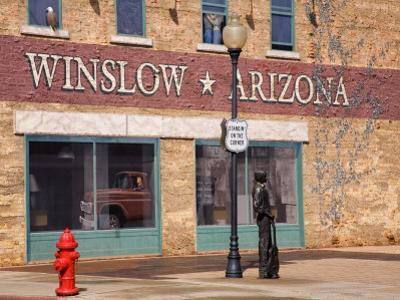Standing on the Corner Park, Historic Route 66, Winslow, Arizona, USA by Richard Cummins