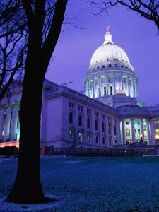State Capitol Building at Dusk, Madison, United States of America by Richard Cummins
