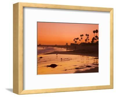 Sunset at Corona Del Mar Beach, Newport Beach, Orange County, California, United States of America,