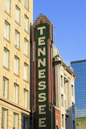 Tennessee Theater on Gay Street, Knoxville, Tennessee, United States of America, North America by Richard Cummins