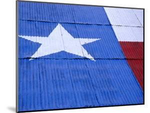 Texas Flag Painted on Barn Roof, Austin, Texas by Richard Cummins