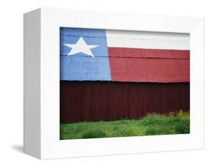 Texas Lone Star Design on Barn Roof by Richard Cummins