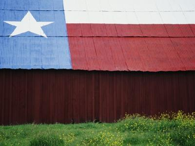 Texas Lone Star Design on Barn Roof by Richard Cummins