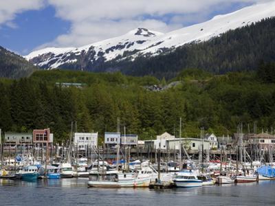 Thomas Basin Boat Harbor in Ketchikan, Southeast Alaska, United States of America, North America by Richard Cummins