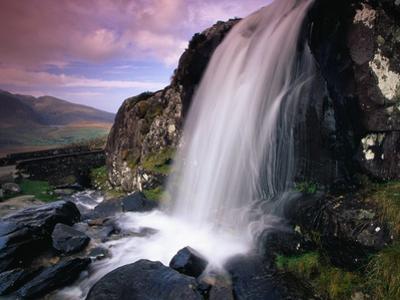 Waterfall and Jagged Rocks in the Irish Countryside by Richard Cummins