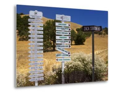 Winery Signs, Santa Ynez Valley, Santa Barbara County, Central California