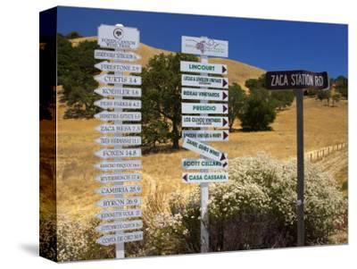 Winery Signs, Santa Ynez Valley, Santa Barbara County, Central California