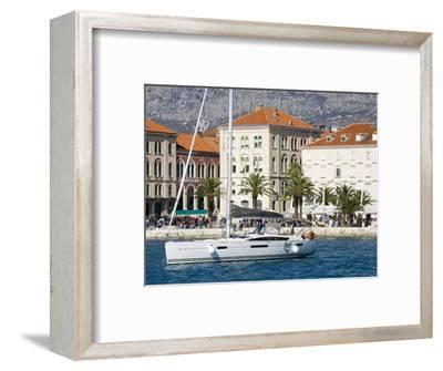Yacht in Split Harbour, Dalmatian Coast, Croatia, Europe