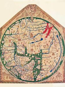 The Hereford Mappa Mundi, (C128), 1912 by Richard de Bello