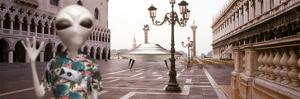 Alien Tourist in Venice by Richard Desmarais