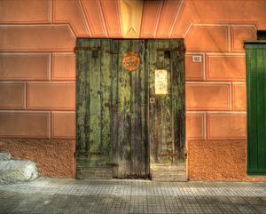 Camogli Green Doors by Richard Desmarais