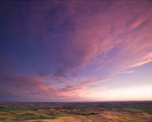 La Palouse Steptoe at Sunset II by Richard Desmarais