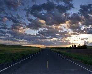 La Palouse Steptoe Road at Dawn by Richard Desmarais