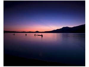 Lake Quinault Sunset by Richard Desmarais