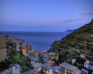 Manarola Looking towards Ligurian Sea by Richard Desmarais