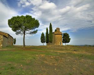 Tuscany Capella di Vitaleta Rear View by Richard Desmarais