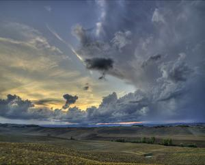 Val d'Orcia Sunset in Storm by Richard Desmarais