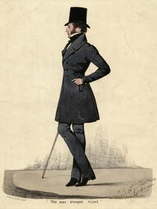 Man in Black 1820s by Richard Dighton