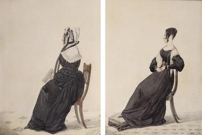 Two Portraits of Widows, 1837