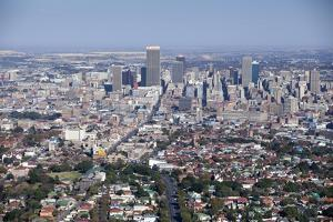 Johannesburg City - Aerial View - South Africa by Richard Du Toit