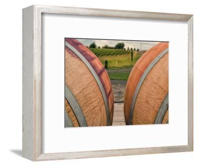 Barrels in Walla Walla Wine Country, Walla Walla, Washington, USA